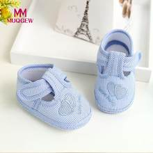 Newborn Baby Shoes Boy Girl Cute First Walkers Soft Sole Crib Toddler Shoes Canvas Sneaker 2018 New Baby 0-10 M Crib Shoes(China)