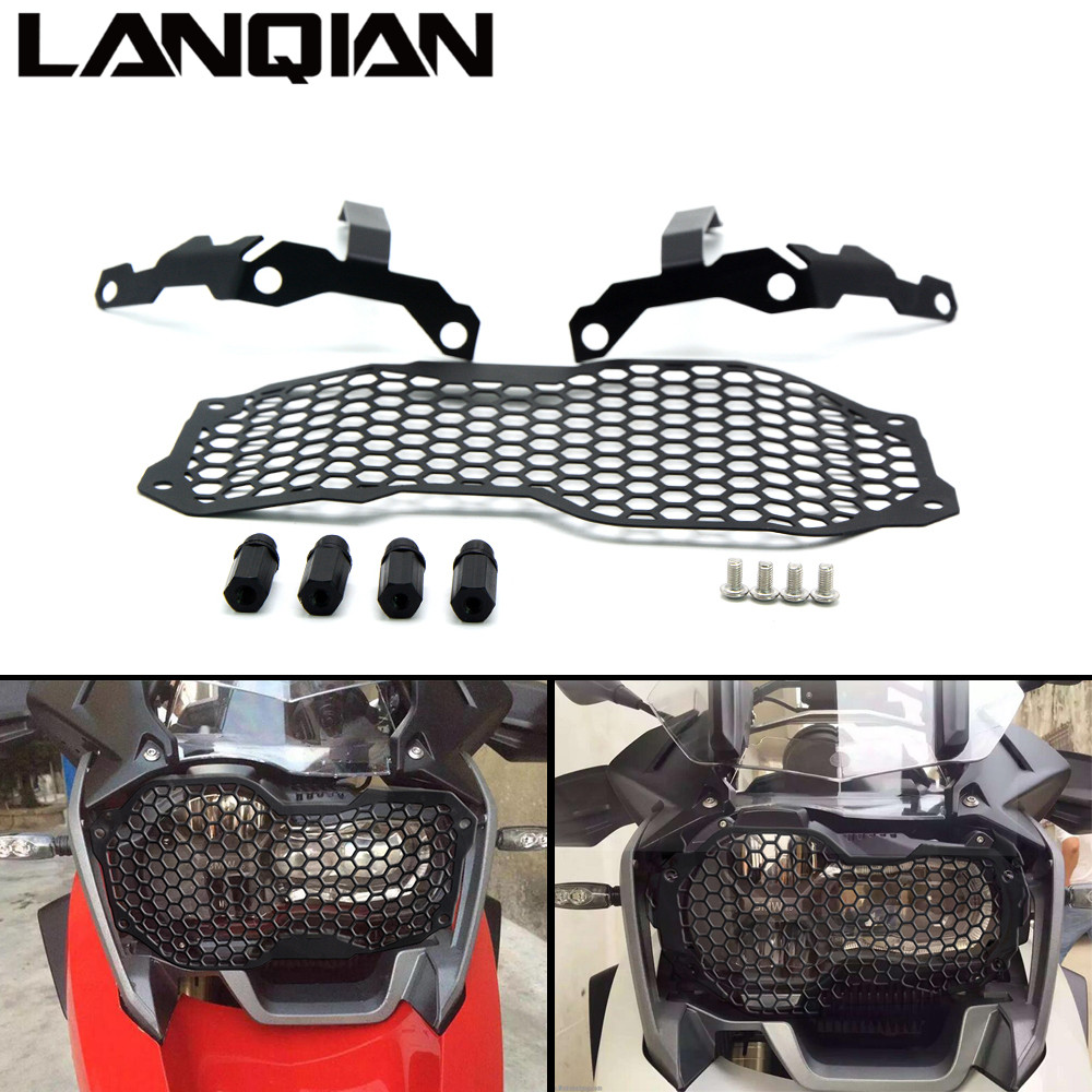 For R1200GS ADV Motorcycle Accessories Headlight Grill Guard Cover Protector For BMW R1200GS ADV 2013 2014 2015 2016 13 14 15 16 for bmw r1200gs adv f800gs adv f700gs new motorcycle adjustable handlebar riser bar clamp extend adapter