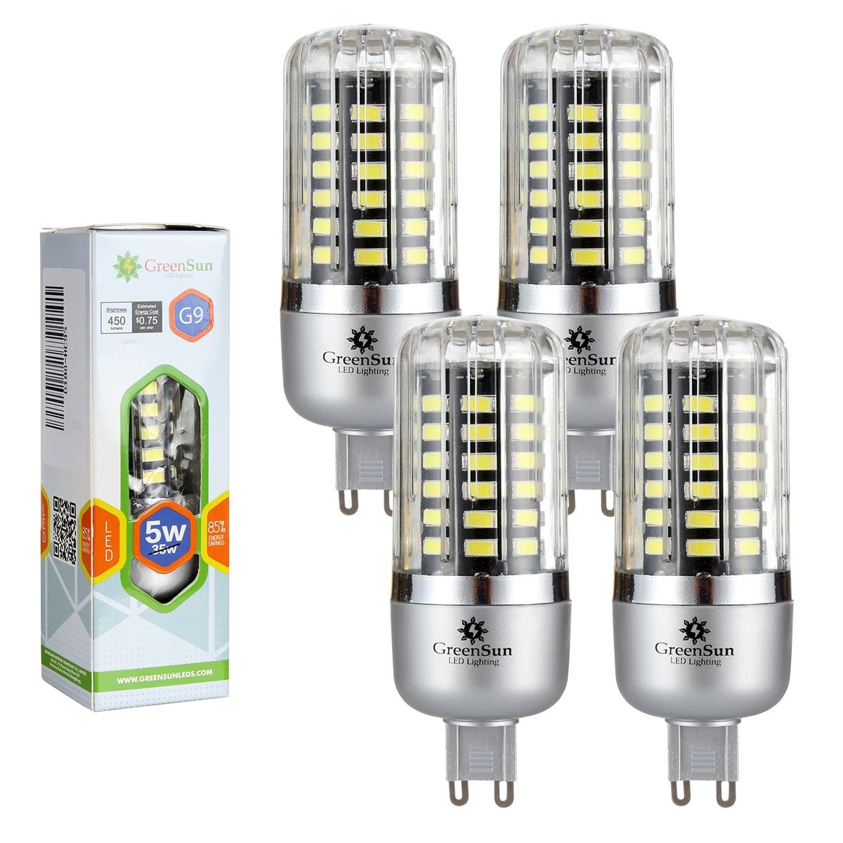 4/10 pcs 85-265V Full Watt Smart IC LED Corn Bulb 5736 SMD Lamp G9 3W 5W 7WLED No Flicker Light Bulbs 2pcs real full watt 3w 5w 7w 8w 12w 15w e27 e14 led corn bulb 85v 265v smd 5736 led lamp spot light 28 40 72 108 132 156 leds