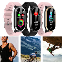 Модные IP67 Водонепроницаемый индекс Для мужчин Для женщин крови кислородом Давление монитор сердечного ритма спортивные Смарт-часы для Бег, Велосипеды