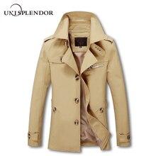 unisplendor 2018 Autumn Spring Brand Clothing Army Cotton High Quality Coat Jacket Male Cool Plus Size Casual Coat Warm YN10074