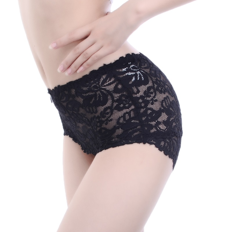 3ebe8384286c Women Underwear Sexy Panties Female Mid rise Lace Panties Quality Seamless Transparent  Triangle Pants Flower Breathable Lingerie-in women's panties from ...