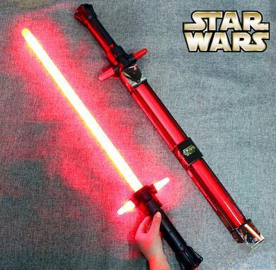 Star Wars Lightsaber Kailuolun 7 awakening fuerza Darth Vinda retráctil espada láser de juguete máscara de estrellas