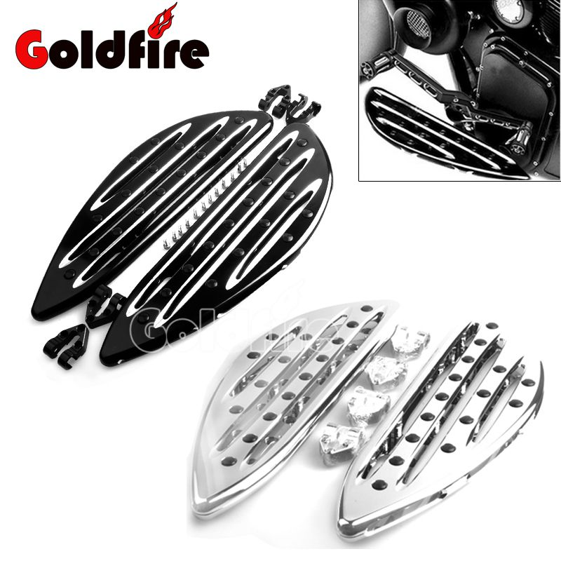 Motorcycle Accessories Good Quality CNC Driver Stretched Floorboards Foot Rest pegs For Harley Touring FLH FLST FLD Parts motorcycles parts pedal black cast chrome rear black passenger floorboards for harley flh flst fld