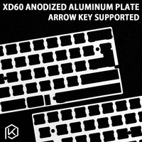 60% aluminium Mechanische Tastatur Platte unterstützung xd60 xd64 gh60 silber farbe