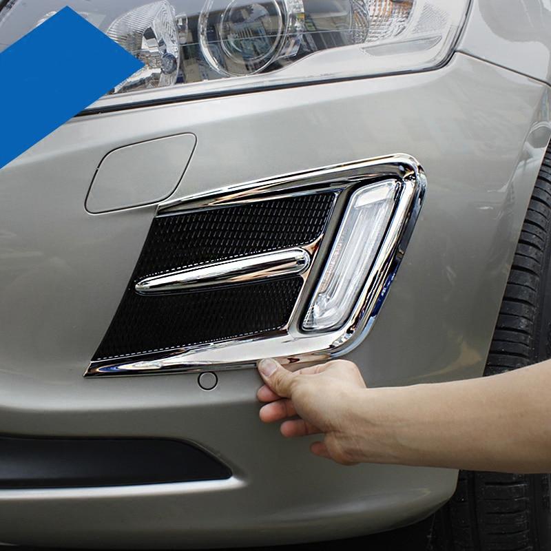 2PC Chrome Front Fog Light Fog Lamp Cover Trim Fit For Honda City 2014-2016