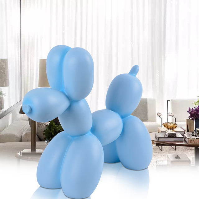 Balloons Dog Statue Abstract Dogs Figurine Animal Art Sculpture Resin Craftwork Living Room Office Ornaments R133