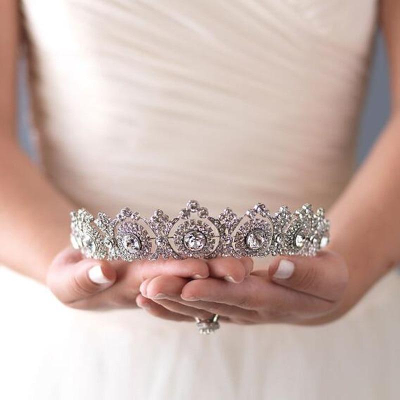 Princess Zircon Crowns And Tiaras For Bride Super Shiny Rhinestone Women Jewelry Wedding Pageant Hair Accessories Headbands