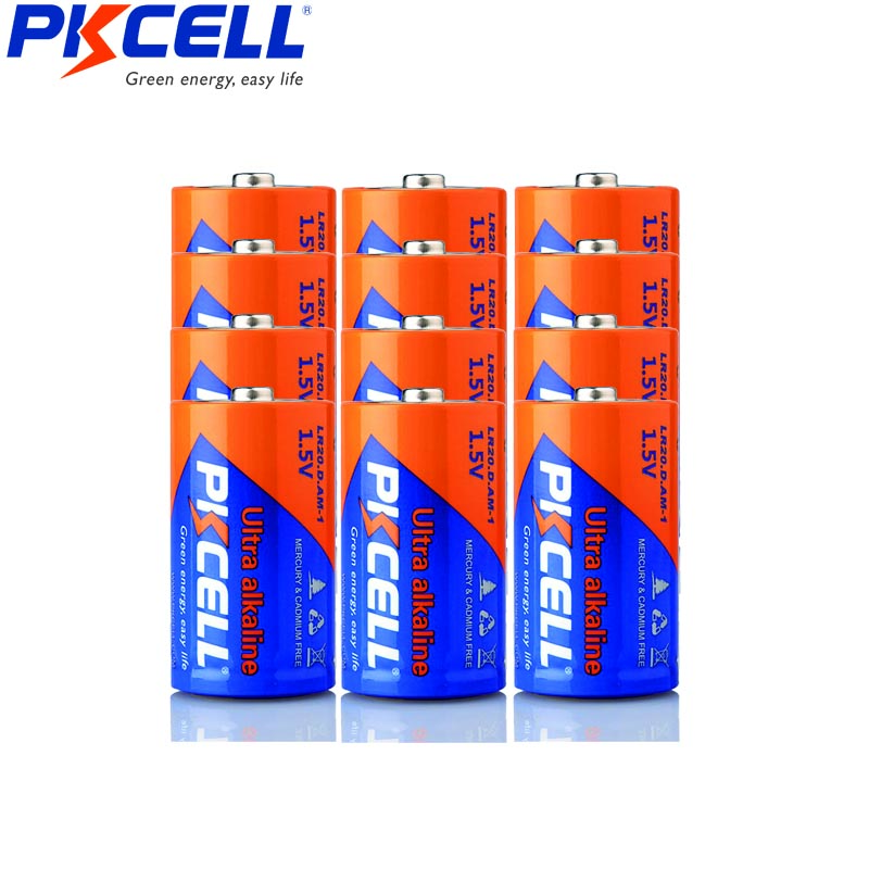 12pcs Lr20 D Batteries Am 1 Mn1300 Super Alkaline Dry