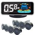 2017 6060 датчик парковки с 8 датчики цветастого LCD Buzzar сигнализации водонепроницаемый Датчик Обратный Резервный Радиолокатор Система помощи При Парковке