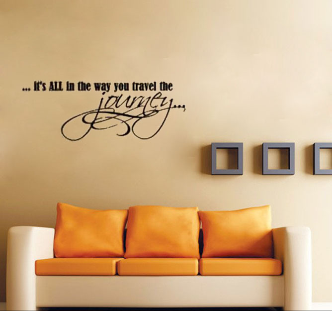 its all in the way you travel the journey home decoration wall art decals living room