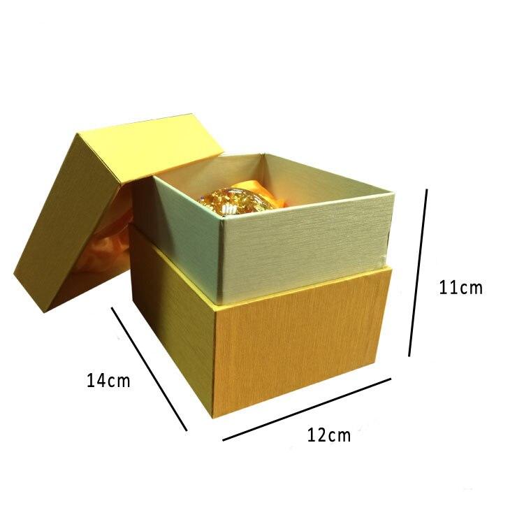 Роскошный 24 K золотой хлопья Снежный шарообразный стеклянный фэншуй шарик лучший богатый бизнес подарок набор для ремонта стеклянный глобу... - 3