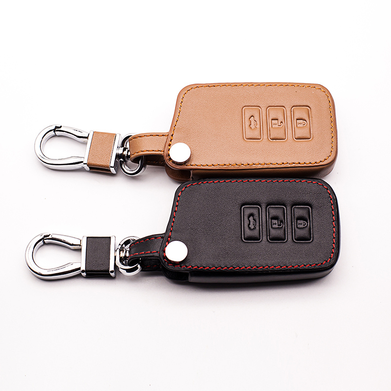 Leather Car styling Key Cover Case For Lexus NX GS RX IS ES GX LX RC 200 250 350 LS 450H 300H Key cases Auto Accessories