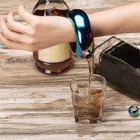 Нержавеющая сталь браслет колбочка-браслет фляга портативный Круглый элегантный вино Смешанная бутылка 3,5 унций виски емкости для алкогол...