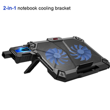 COOLCOLD Professional external Laptop Cooler Pad 14 15.6 with 2 fans Cooling Fan  Base Exhaust (2 in 1 set)