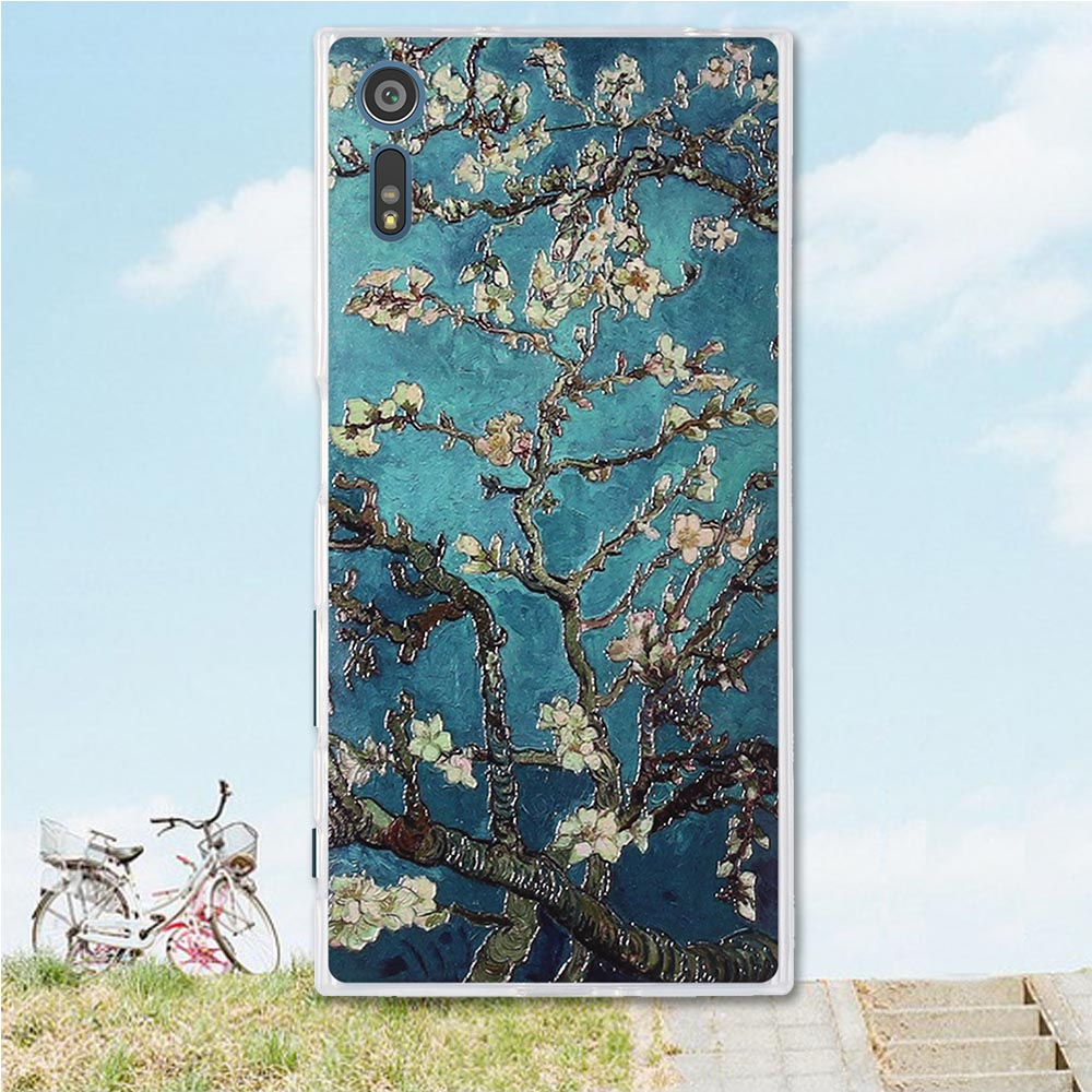 Mobile Phone Etui For Coque Sony Xperia XZ case 3D Relief paint soft Silicone back cover case for Sony Xperia XZs for Sony XZ XR