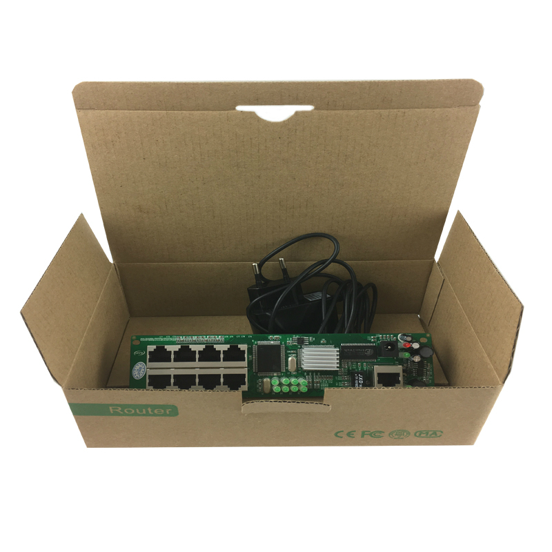 OEM manufacturer direct sell cheap wired distribution box 8-port router modules OEM wired router module 192.168.0.1 5