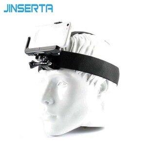 Image 1 - Montagem da correia da cabeça de gopro com grampo do telefone/suporte para o iphone huawei samsung para escalada/esqui/ciclismo esportes 360 graus girados