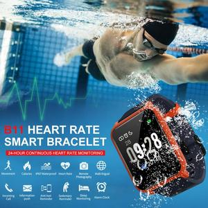 Image 2 - 2019 B11 pulsera inteligente 9,9mm cuerpo Fitness reloj impermeable monitoreo Frecuencia Cardíaca sueño reloj inteligente para Android e IOS8.0