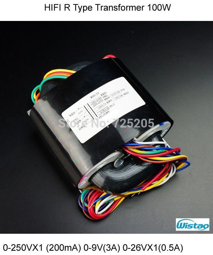 Amplificateur HIFI R Type transformateur 0-250VX1 (200mA) 0-9 V (3A) 0-26VX1 (0.5A) 0-18 V (0.5A) pour Tube MM/MC Phono préamplificateur Kit PCBA