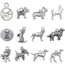 5c79ad21f Skyrim 10pcs Zinc Alloy Pet Animal Series DOG&Shar Pei&Akita Dog&Golden  Retriever Charms Pendants For DIY Jewelry