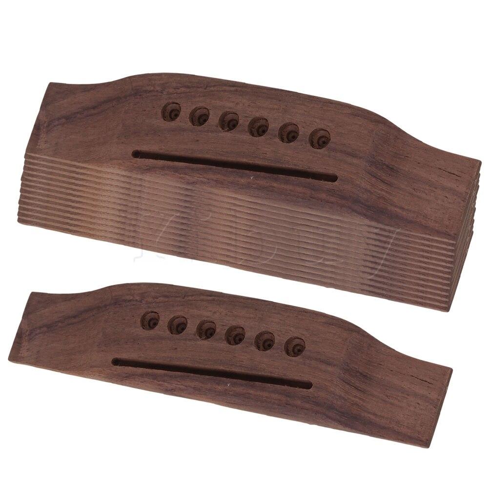 Yibuy 20 pièces Palissandre Selle Jusqu'à Pont pour 6 Cordes Guitare Folk Acoustique 153mm Longueur