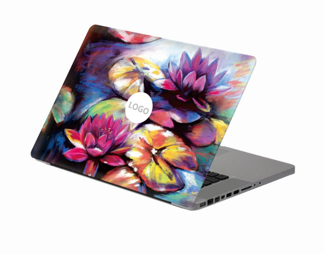 Elegant Lotus Flower Laptop Decal Sticker Skin For Macbook Air Pro