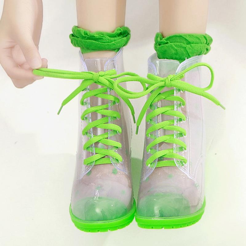 3 Tacón Producción Nueva 5 Lluvia Cuña Antideslizante 2 Impermeable Botas 4 1 Martin Transparente Agua 6 Jalea Alto Zapatos Con Correa De 2018 Ex4ZqawR