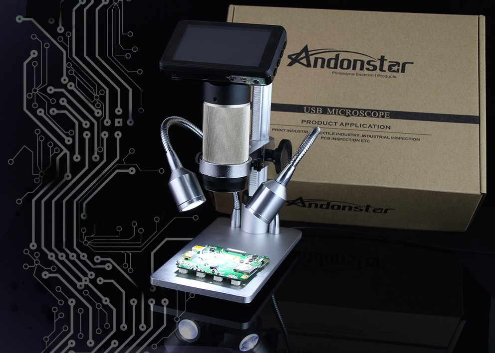 New Andonstar ADSM201 HDMI Microscope 1080P Microscope Soldering Microscope Digital Microscope Long Object Distance Microscpe