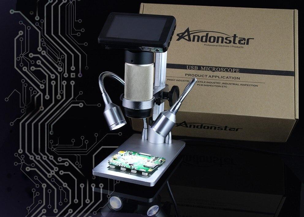 Новый Andonstar ADSM201 HDMI микроскоп 1080 P микроскоп пайки микроскоп, цифровой микроскоп большое расстояние до объекта microscpe