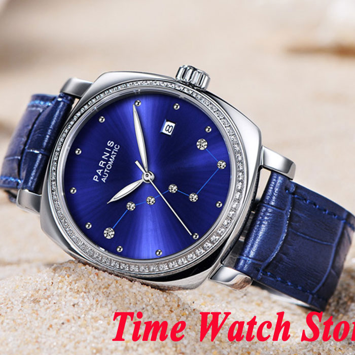Luxury 39mm Parnis men's watch Big Dipper Royal blue dial sapphire glass 5ATM MIYOTA movement women's watch 932 элемент салона big dipper