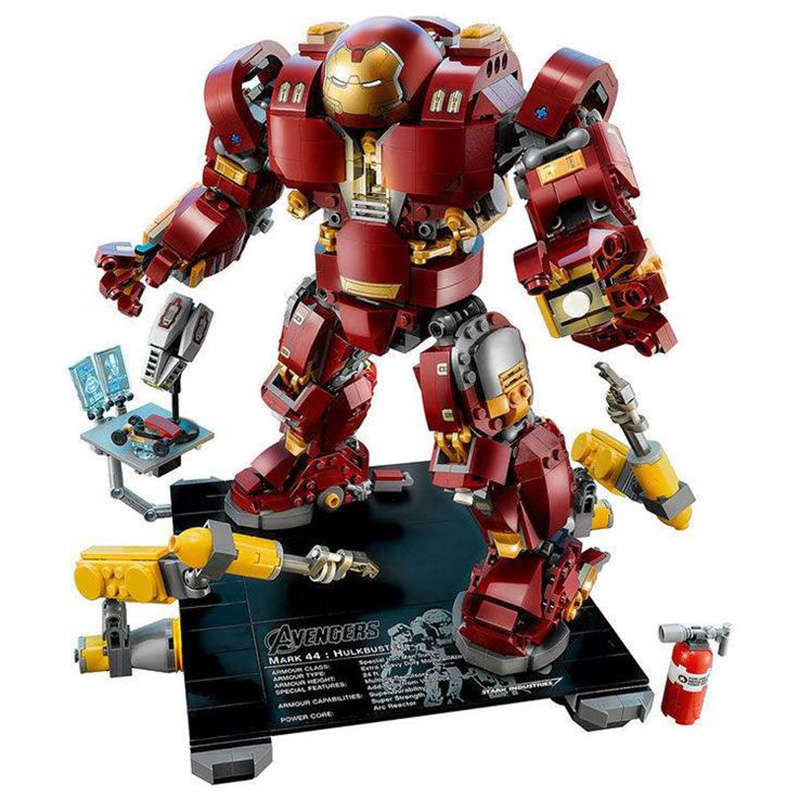 Ironman Hulkbuster Compatible avec legoing Iron Man 76105 modèles de blocs de construction Marvel Avengers Super héros jouets pour enfants-in Blocs from Jeux et loisirs    2