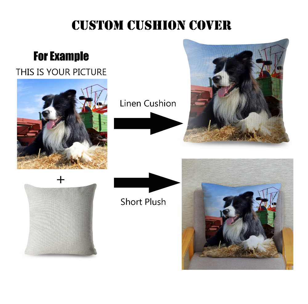 Custom Linen Super Soft Short Plush Cushion Cover Car Sofa Home Decor Pillow Case Throw Pillows Covers 45*45cm