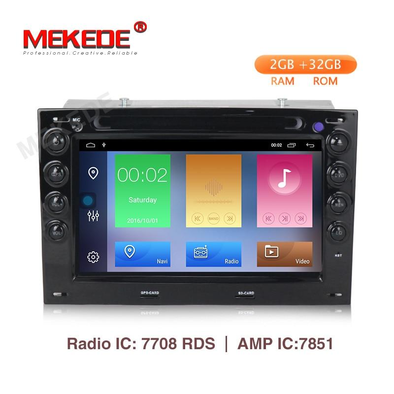 MEKEDE 2din HD 2 7''Car Multimedia player Android 9.1 Automotivo para Renault Megane ii 2006 2007 2008 2009 2010 com BT Wifi GPS