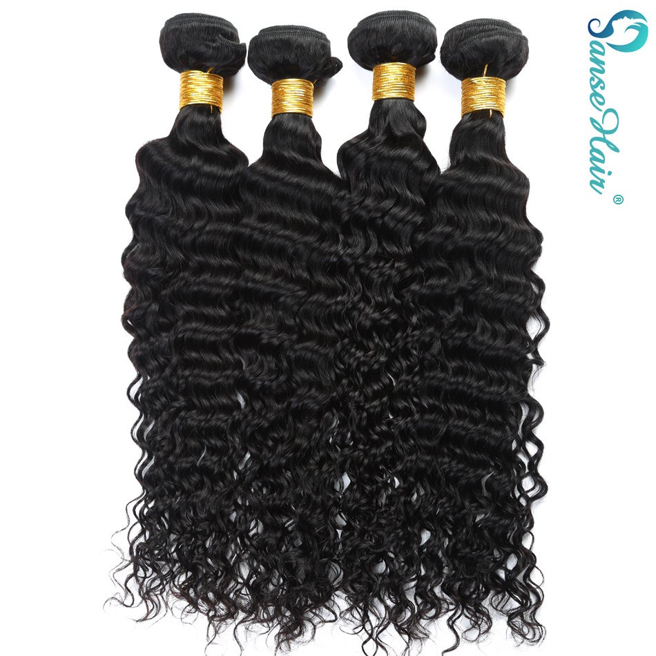 Panse Hair Deep Wave 4 Πακέτα ανά παρτίδα - Ανθρώπινα μαλλιά (για μαύρο) - Φωτογραφία 6