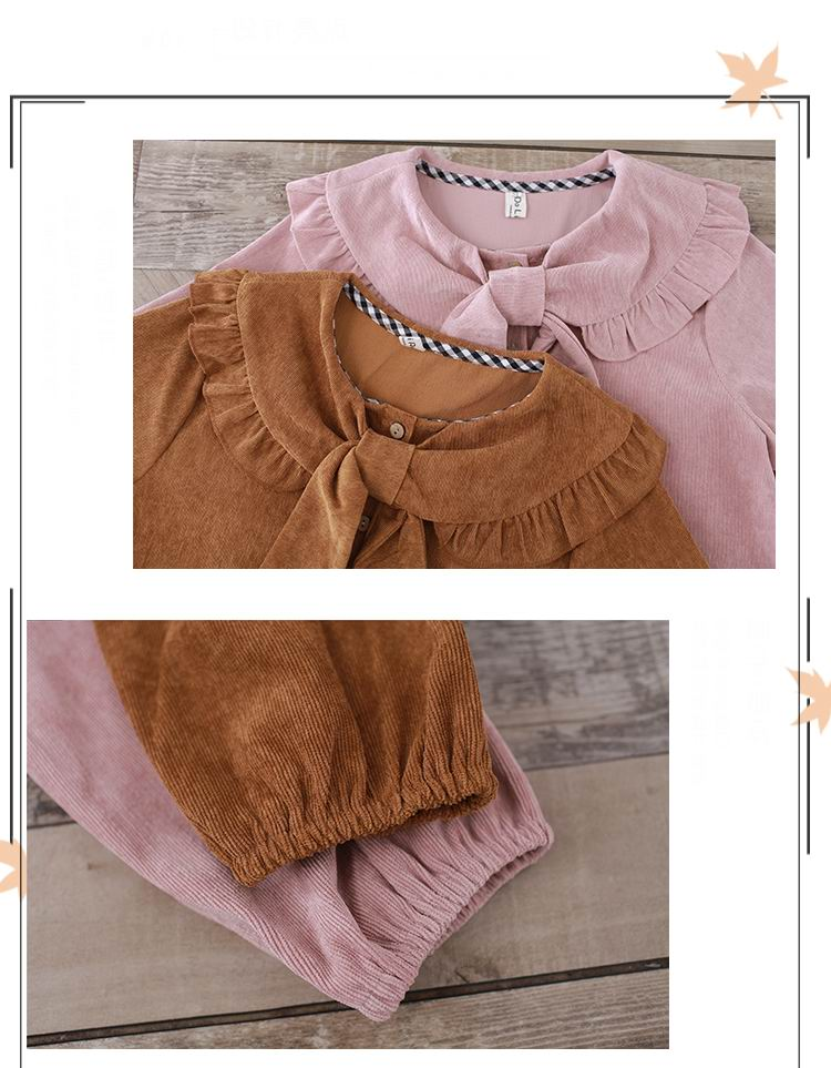Mori Girl Vintage Dress 2019 Nuove donne autunno inverno manica lunga  farfalla collo lungo abiti in velluto a coste larghi in Giappone  Abbigliamento 0325a7c647c