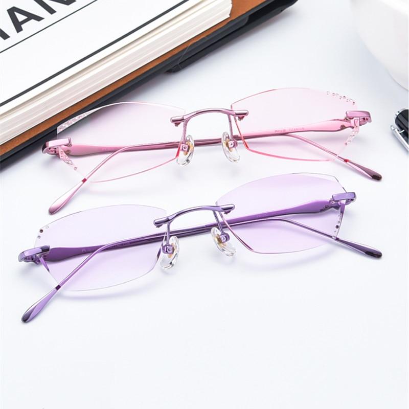 Freundlich Brillen Frauen Mode Charme Diamant Randlose Brillen Angepasst Myopie Hyperopie Brille 037 Optische Gläser Bestellungen Sind Willkommen. Bekleidung Zubehör