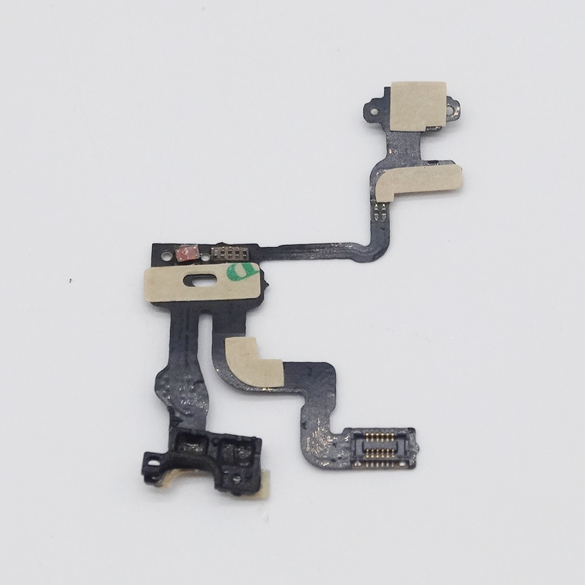 US $88 0 |50 pcs Original Mobile Phone Proximity Light Sensor Power Button  Flex Ribbon Cable For iPhone 4s Repair Fix Newest Free Shipping-in Mobile