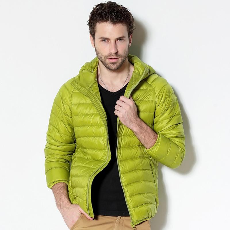 Men White Duck Down Jacket 2020 New Portable Hooded Down Coat Ultralight Men Winter Coat Warm Thermal Down Parkas