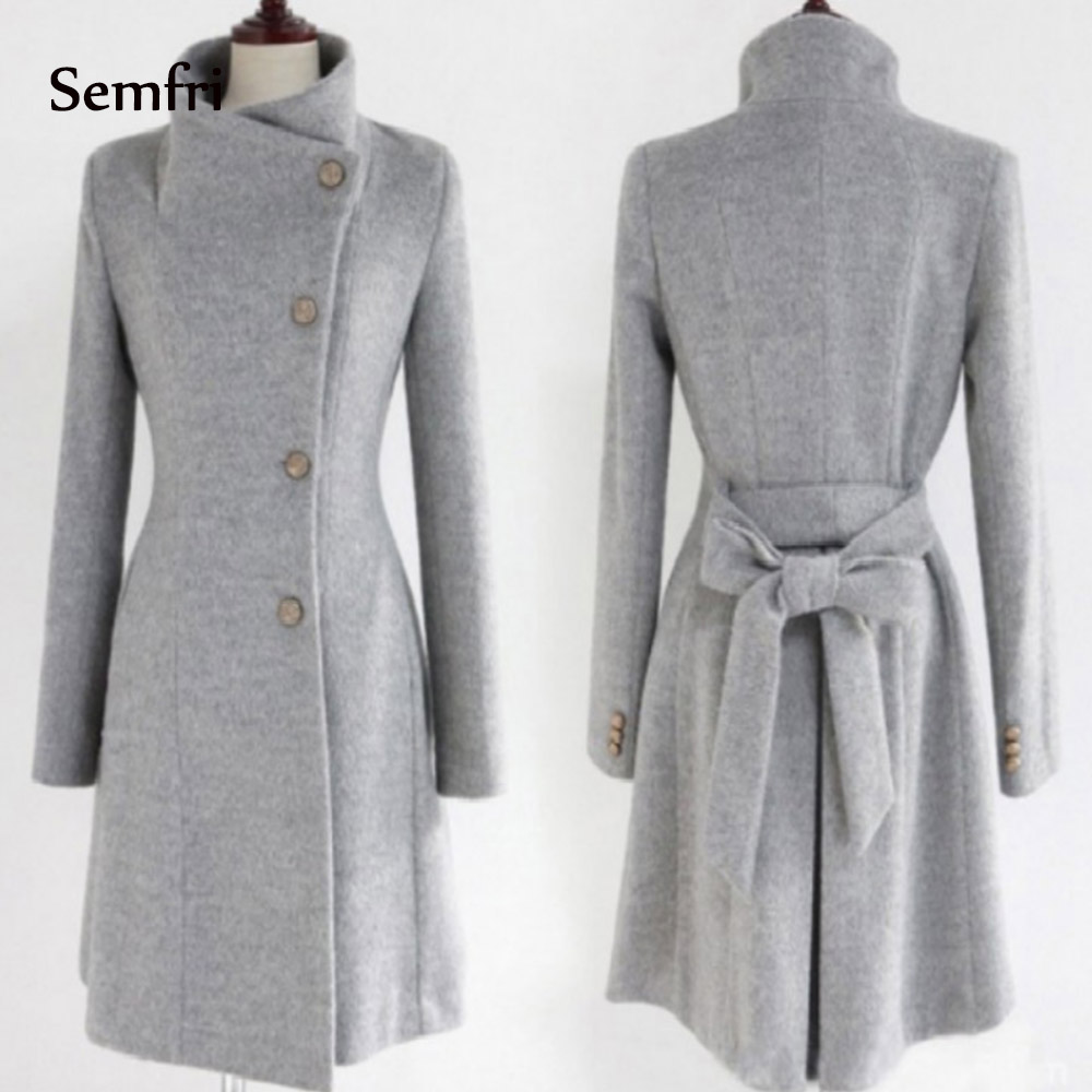 Semfri  Women Coats Winter Jacket Korean Long Coat Female Thick Casaco Womens Outwear Feminino  Abrigos Mujer Invierno 2019