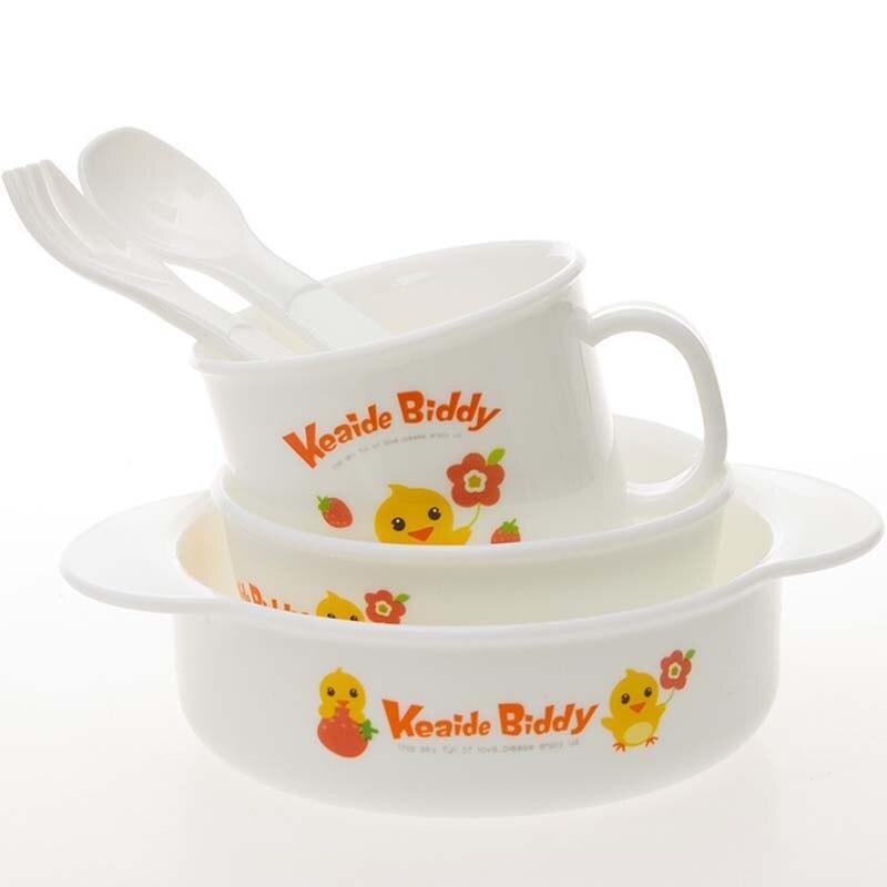 Löffel Geschirr Sets Baby Fütterung Set Gelten Für Mikrowelle Kochen Werkzeuge StäRkung Von Sehnen Und Knochen Tasse Freies Verschiffen Kind Geschirr Baby Geschirr Schüssel