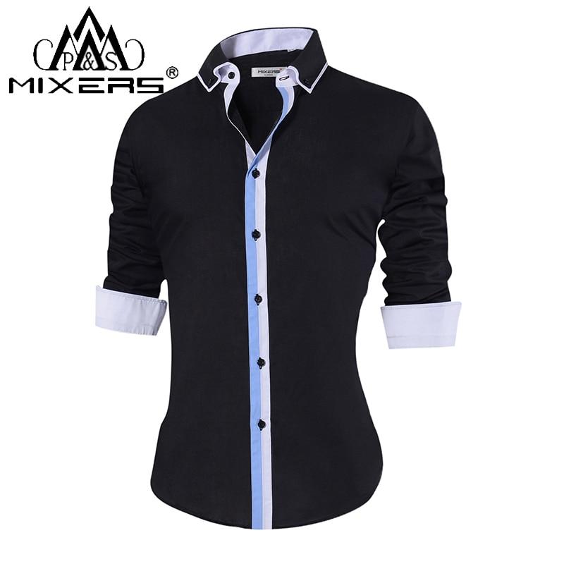 2018 Fashion Men's Casual Shirts Long Sleeve Slim Fit Button-Down Casual Shirts Men Formal Dress Shirts Men Clothes 2018 Camisa