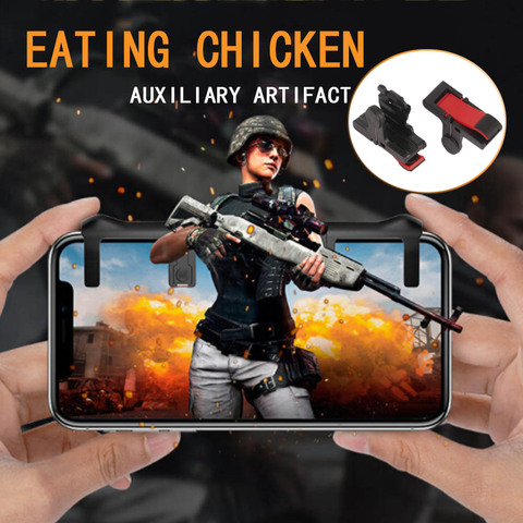 For Pubg Gamepad For Mobile Phone Game Controller Shooter Trigger Fire Button For IPhone Android Phone Game Pad Accessories Lahore