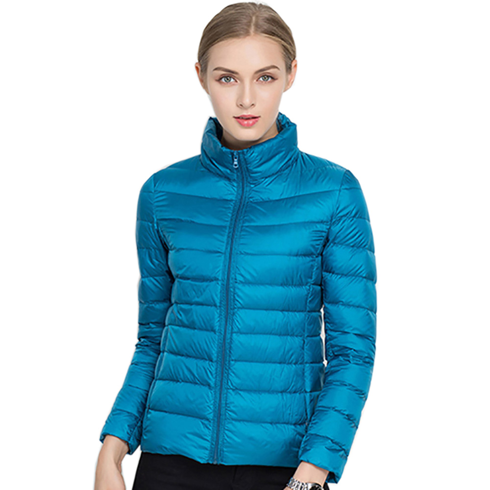Winter Women Ultra Light   Down   Jacket 90% White Duck   Down   Jackets Long Sleeve Warm   Coat   Slim Parka Female Portable Spring Outwear