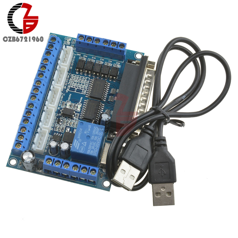 цена на 5 Axis CNC Breakout Board with optical coupler Stepper Motor Driver MACH3
