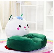 lovely plush green cat children's sofa toy big face green cat tatami soft seat doll gift about 54x45cm