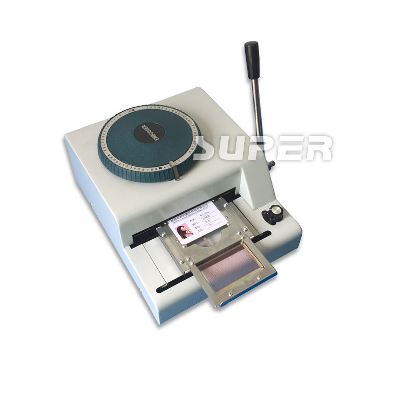 72 Character Manual Stamping Machine for PVC/ID/Credit Card Embosser ...