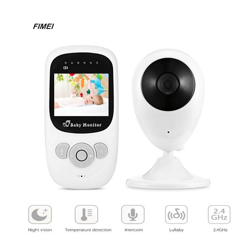Fimei SP880 inalámbrico bebé monitor de sueño, niñera de vídeo Digital de la visión nocturna de la pantalla de temperatura Radio monitor LCD