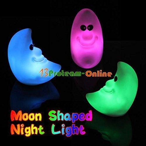 AKDSteel CYNDIE Hot Sale New Novelty Lamp Changing Color LED Night Light Moon Shaped Colorful Home Room Decor