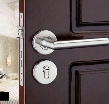Edelstahl Türschloss Split lock tür knöpfe für innen Tür schlösser stumm Anti-diebstahl Tor Türschloss für zimmer